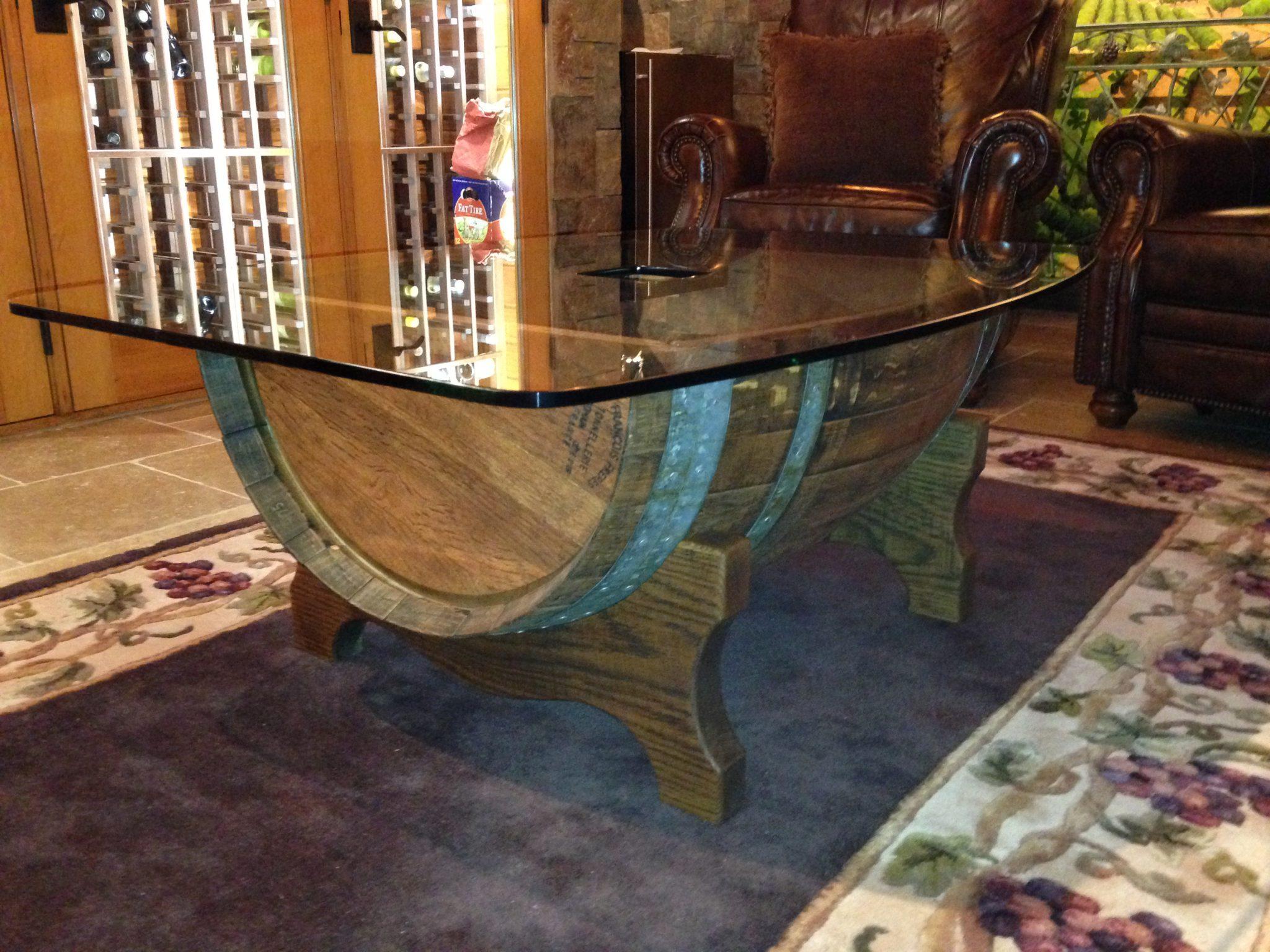 Wine Cellars - Custom Wine Barrel Table