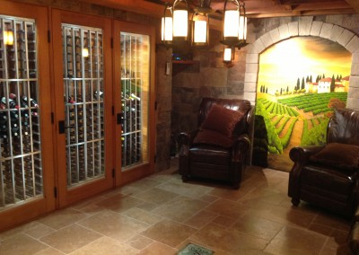 Wine Cellar in an Existing California Basement