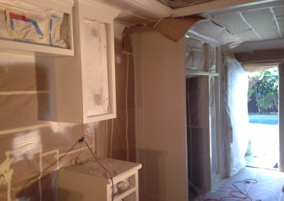 Cabinets Taped