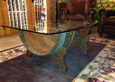 Completed Wine Barrel Table