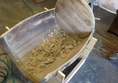 Wine Barrel Table In Progress